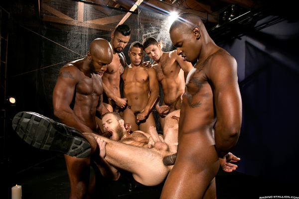 Gang bang balck and wait excellent idea