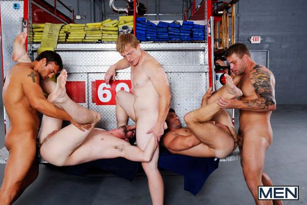 sodo sur le camion des pompiers